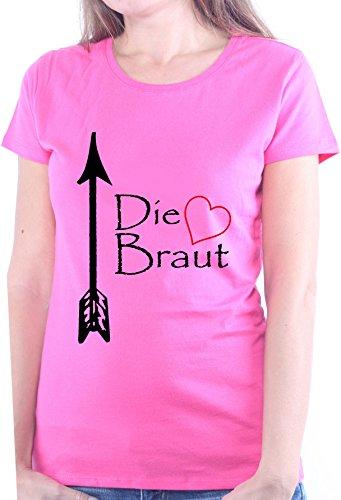 Mister Merchandise Ladies Damen Frauen TShirt Die Braut JGA ...