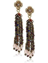 Women's Gold Tone Mink Multi Tassel Drop Earrings, One Size