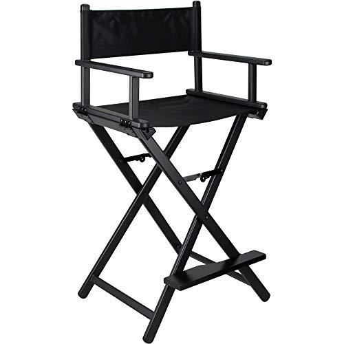 Ver Beauty Aluminum Director Makeup Chair, Black Matte from Ver Beauty