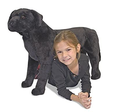 Melissa Doug Black Lab Plush by Melissa & Doug