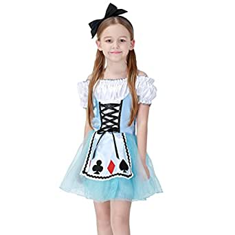 MV Halloween Cosplay Princess Girl Dresses Dream Alice Children Costume