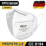 50x-SOSAFE-FFF2-Maske-Mundschutz-fr-Mund-und-Nasenschutz-Atemschutzmaske-Atemmaske-Mundschutzsmaske-Einwegmaske-CE-Zertifiziert-medizinisch-Mund-und-Nasenschutz-Staubmaske