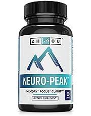 Neuro-Peak Brain Support Supplement, Nootropic Formulated for Memory, Focus, Clarity, 30 Capsules
