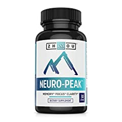 Zhou's Neuro-Peak is your tool for memory, focus, clarity, and peak performance. Neuro-Peak is a nootropic, which means it's specially formulated to help support your memory and cognition. We've carefully combined the perfect amount of ingred...