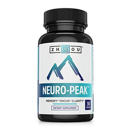 Neuro Peak Brain Support Supplement - Memory, Focus & Clarity Formula - Nootropic Scientifically Formulated for Optimal Performance - DMAE, Rhodiola Rosea, Bacopa Monnieri, Ginkgo Biloba & More (Best Brain Vitamins For Adults)
