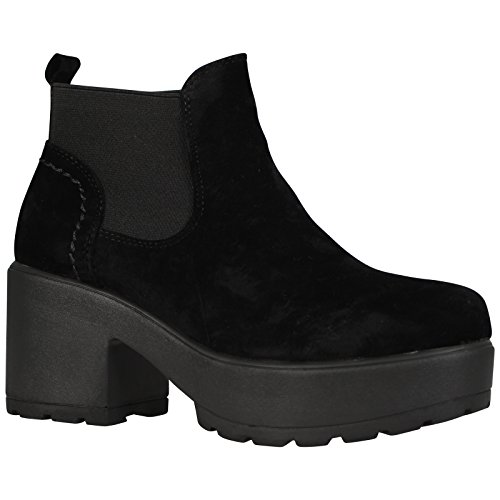 SOLE SCHOOL KIDS SIZES BOOTS Black 10 CHUNKY Suede SHOES WOMENS 5 CASUAL ANKLE UK CHELSEA FAgqWFp1U