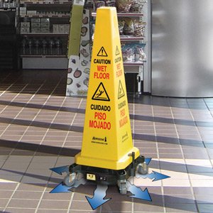 Exceptional Hurricone® Cord Free Battery Operated Caution / Safety Cone Floor Dryer