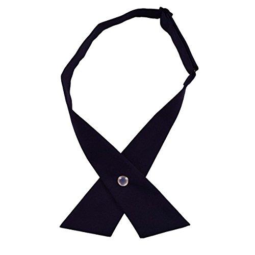 Alizeebridal Solid Criss-cross Bow Ties for Student's School Uniform (Dark (Crossover Tie)