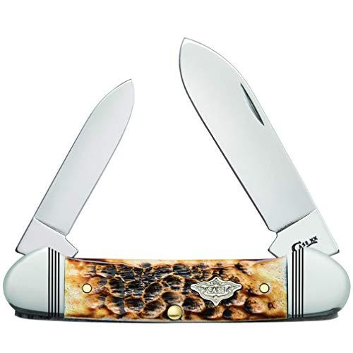 Case Knives Burnt Amber Bone Standard Jig Canoe