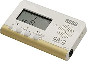 KORG CA-2 Chromatic Musical Instrument Tuner with Built-In Microphone, White