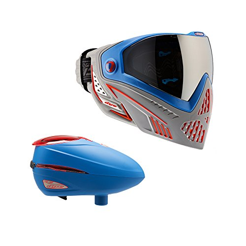 DYE R2 Electronic Paintball Loader Patriot With DYE i5 Goggle - Rotor Hopper Dye