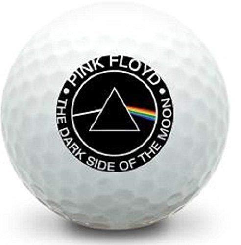 ゴルフボールキング ユニークなプリントゴルフボール ピンクフロイド ダークサイドオブザムーン ゴルフボール (3個パック) B07KJHZDZ8