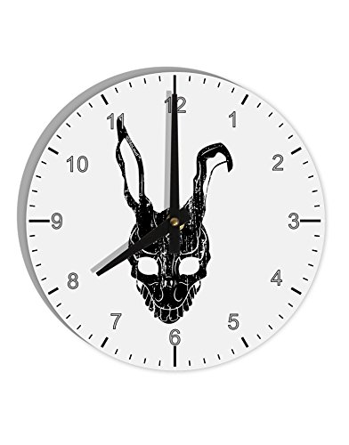 TooLoud Scary Bunny Face Black Distressed 8
