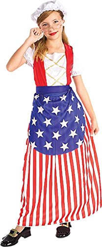 Wire Rimmed Glasses Costume (Betsy Ross Child Costume - Medium)