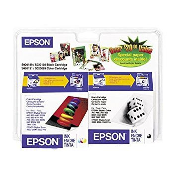 (EPSON S189108-BCD Consolidated Ink Cartridge -- Black / Color Combo Pack)