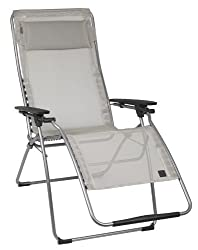 Lafuma Futura XL Zero Gravity Chair, Grey Steel Frame, ...