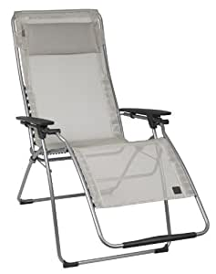 Lafuma Futura XL Zero Gravity Chair, Grey Steel Frame, Seigle
