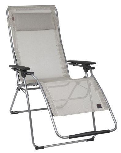 Lafuma Futura XL Zero Gravity Chair, Grey Steel Frame, Se...