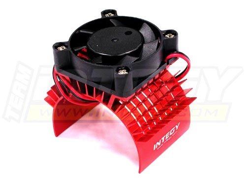 Integy RC Model Hop-ups C23138RED Super Motor Heatsink+Cooling Fan 750 for Traxxas Summit (5607 Cross)