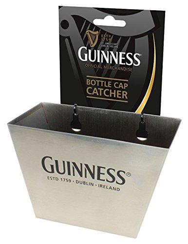 (Silver Guinness Bottle Cap Catcher With Black Dublin - Ireland Text)