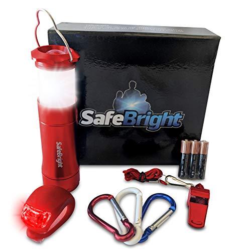 (SAFE:BRIGHT Lantern Flashlight Gift Set (Radiant Ruby Red))