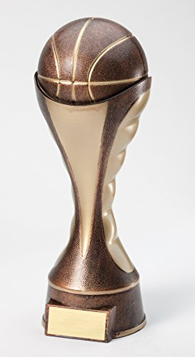 (Etch Workz Customize Resin Casting Award - Sport Themed Sculptures Resin Basketball Trophy - Gold Plated - Engraved & Personalized Free (6