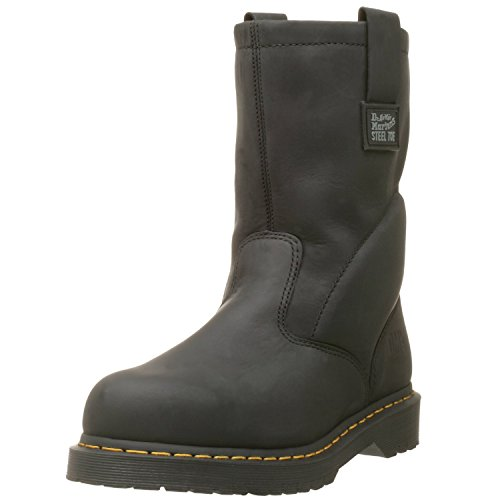Men Wellington Boots - Dr. Martens Work 2295 Rigger, Black Ind. Greasy, UK 9 (US Men's 10, US Women's 11) Wide