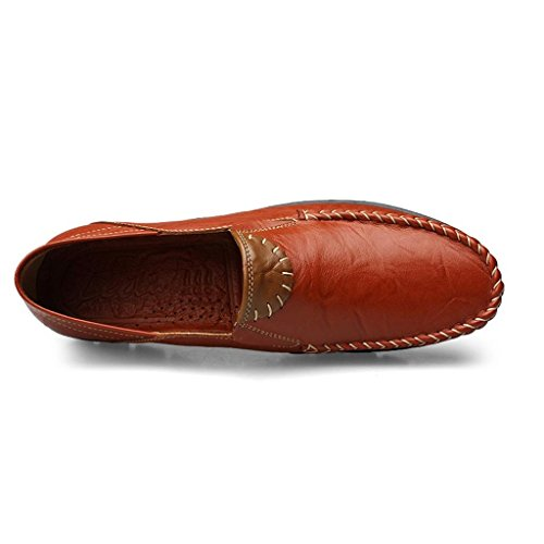de Yellow Zapatos Cuero Zapatos para Hombre Trabajo Zapatos de Pedal Vestir Un de Perezoso Zapatos nXxZqS6