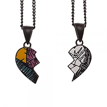 UK Stock JACK /& SALLY Skellington HIS /& HERS Necklace