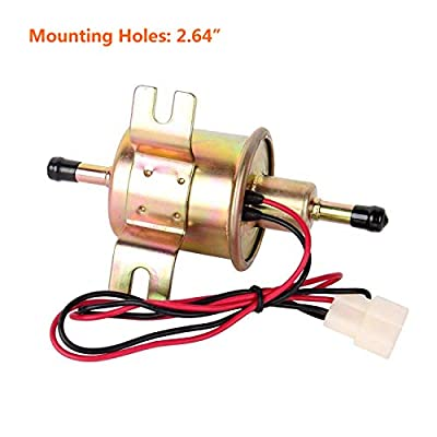 Electric Fuel Pump 12v Universal - Low Pressure Inline External Gas Diesel Gasoline Liquid Transfer for Carburetor Lawn-Mower Boat Cart Truck Tank: Automotive