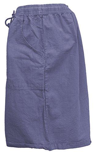 Salem Straits Women's Plus Size 100% Cotton Sheeting Cargo Shorts (Periwinkle, 2X) by Salem Straits (Image #2)