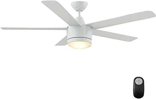 Merwry 52 In. LED Indoor White Ceiling Fan
