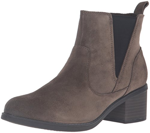 CLARKS Women's Nevella Bell Boot, Dark Taupe Suede, 9.5 M US