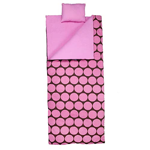 Wildkin Sleeping Bag, Big Dot Pink ()