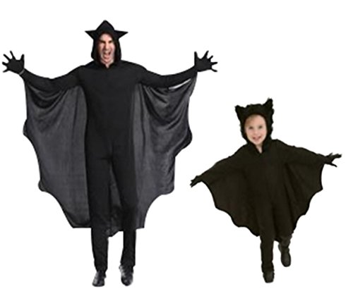 Seipe Halloween Party Apparel Family Bat Costume Game Habiliment Role Play Jumpsuit (Child XL) -