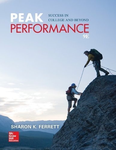 Peak Performance: Success in College and Beyond by Ferrett, Sharon (2014) Paperback