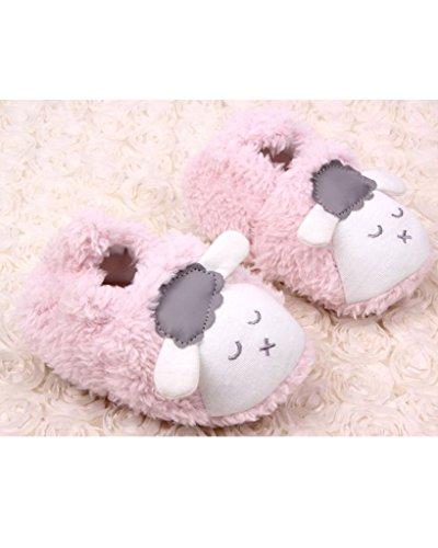 Minetom Unisexo Bebé Niñas Niños Primeros Pasos Zapatos Cordero Botines Suave Único Niños Zapatos Rosa