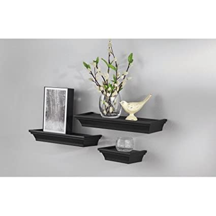 3-Piece Decorative Shelf Set, Black by Mainstays
