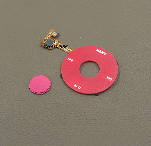 Red Clickwheel Click Wheel + Red Center Central Button for iPod 6th 7th Classic 80GB 120GB Thick Thin 160GB