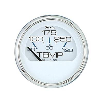 Faria 13804 Chesapeake 100-250°F Water Temp Gauge,White: Automotive