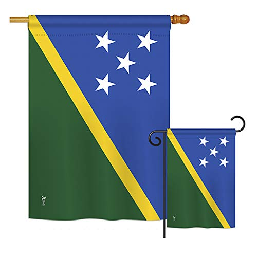 - Americana Home & Garden S140215-BO Solomon Islands Flags of The World Nationality Impressions Decorative Vertical House 28