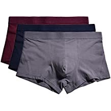 YVWTUC Men's Organic Cotton Underwear Boxer Briefs (Pack of 3)