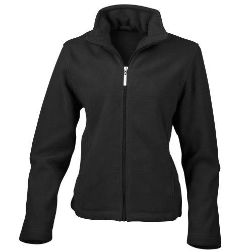 Black Fitted Jacket (Result Ladies/Womens La Femme Semi-Micro Anti Pilling Fleece Jacket (M) (Black))