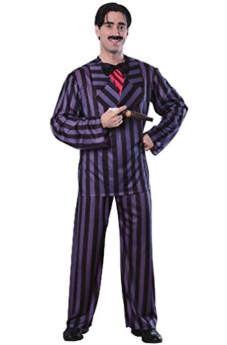 [8eighteen Deluxe Gomez Addams Family Adult Costume] (Family Halloween Costumes With Baby And Dog)