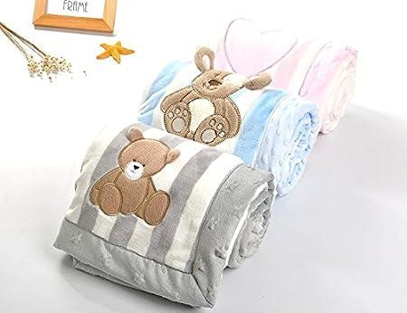 feafaa1b8 LIMISKY Mantitas para bebés Franela espesa Mantas pequeñas de bebé Mantas  de niños Mantas de dibujos animados Mantas infantiles 75   100 cm aplicable  bebé ...