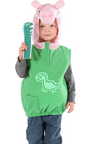 Childs Toddlers Boys Official Licensed Peppa Pig Dino George Fancy Dress (Peppa Pig Toddler Costume)