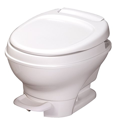 Aqua-Magic V RV Toilet Pedal Flush / Low Profile / White - Thetford 31650