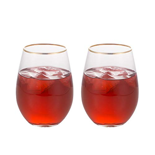 Phnom Penh egg-shaped crystal glass, handmade big belly juice cup, beer mug, non-necked red wine glass, egg cup, sessile wine glass, mousse cup, 2 piece set