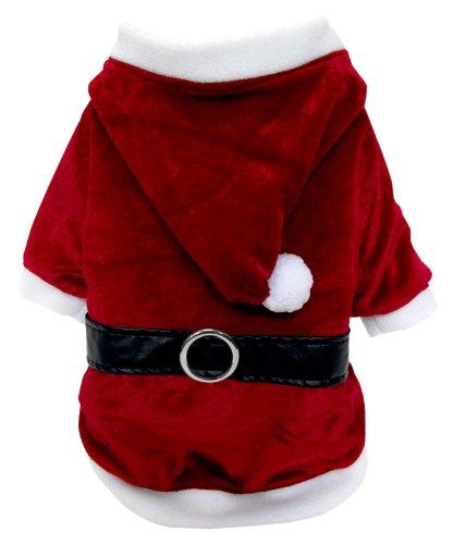 FouFou Dog Reversible Santa/Reindeer Suit, X-Large, My Pet Supplies