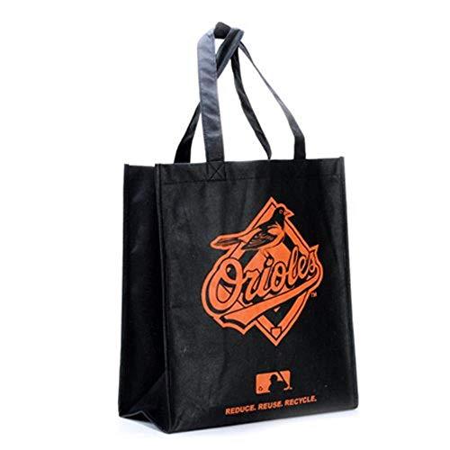 Baltimore Orioles Printed Non-Woven Polypropylene Reusable Grocery Tote Bag - Mlb Bean Bag